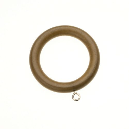 Swish Naturals 35mm Wooden Curtain Rings (Pack of 4) - Aged Oak